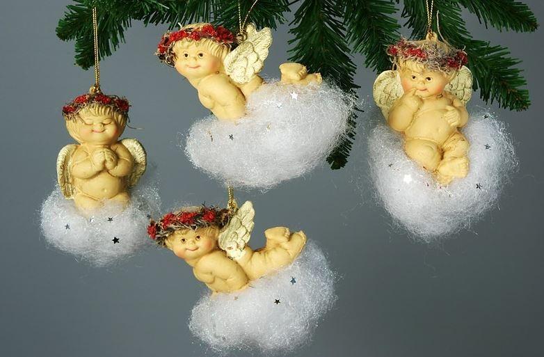 Новогоднее украшение ангел своими руками