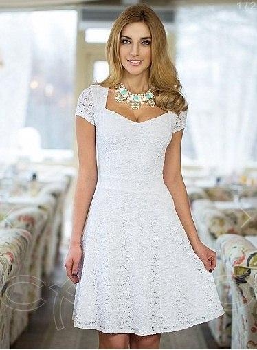Фото летних белых платьев