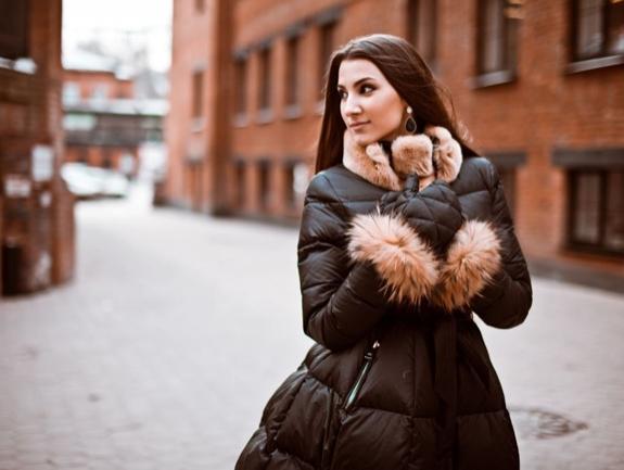 Пуховик пальто с юбкой