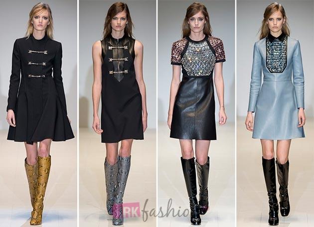Фасоны модных платьев осень-зима