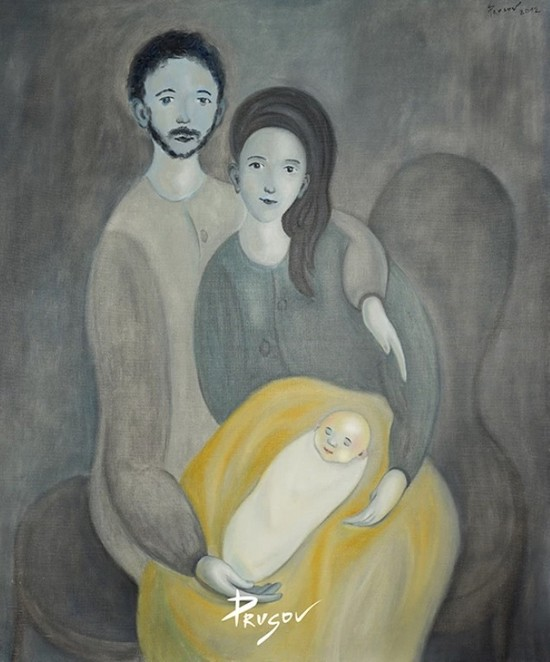 галерея Бронштейна, выставка константина Прусова, новосибирский художник, женщина в искусстве, мода и искусство